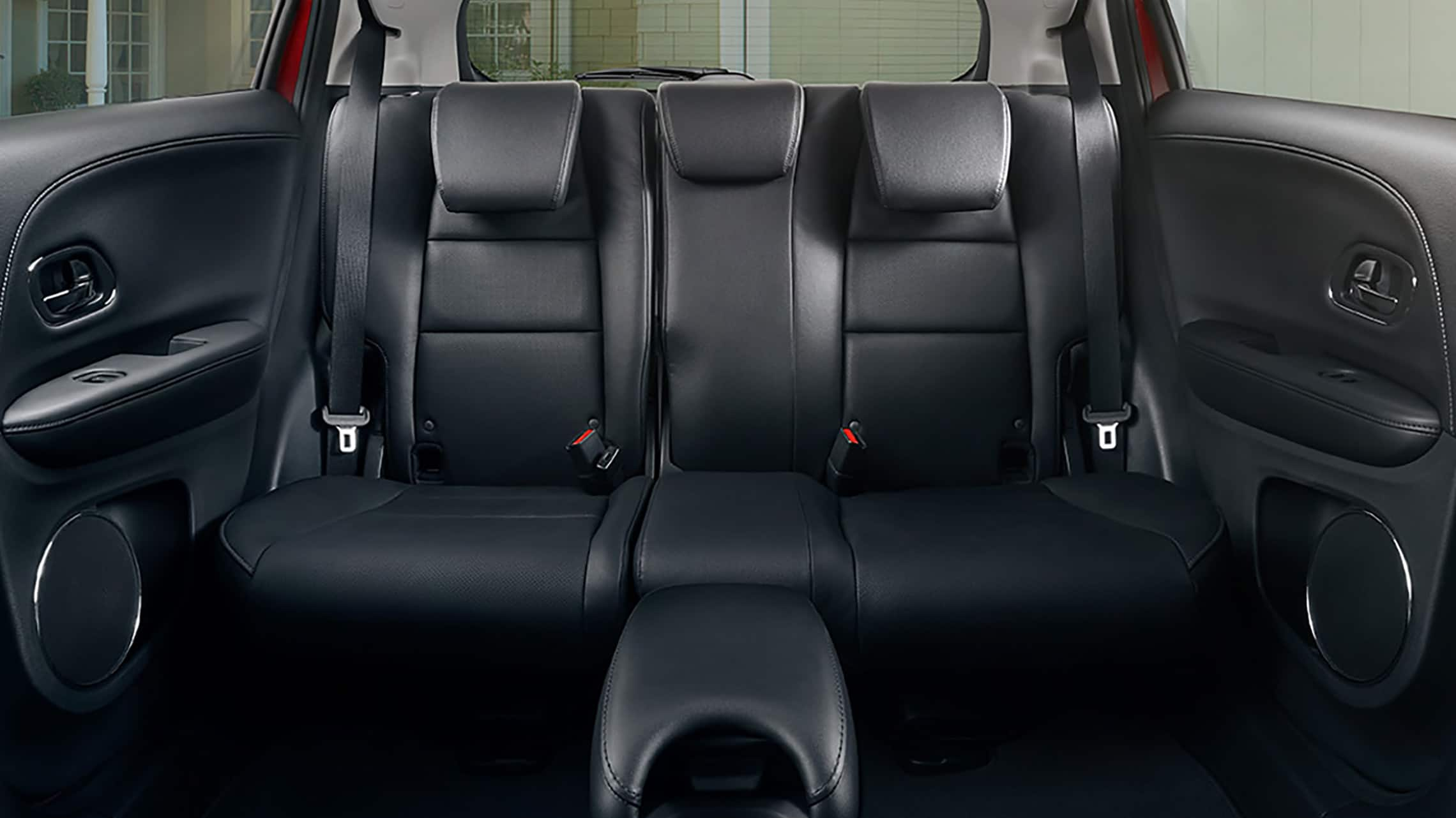 Interior view of 2nd-row Magic Seat® detail in the 2020 Honda HR-V Touring with Black Leather.
