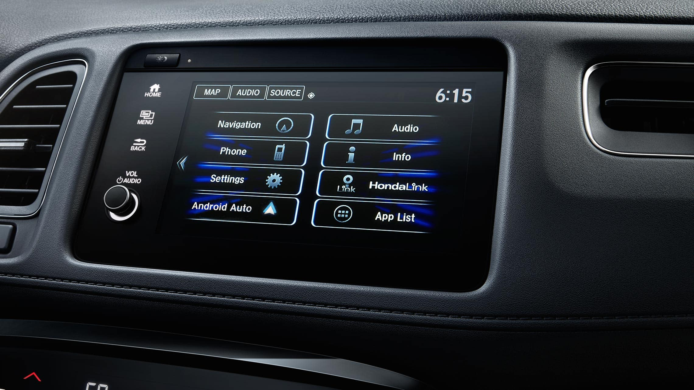 Android Auto™ detail on Display Audio touch-screen in the 2020 Honda HR-V Touring.